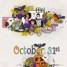 Layout: October 31st - love the layering..
