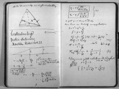 Albert Einstein's notebook; I always knew geniuses wrote in a sloppy fashion. Marie Curie, Moleskine, Nobel Prize In Physics, Theoretical Physics, Commonplace Book, Artist Journal, E Mc2, Einstein Quotes, Writing Quotes