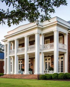 """182 Likes, 5 Comments - C. Brandon Ingram Design (@cbrandoningram) on Instagram: """"Interplay of scale and delicateness on this Greek Revival porch #plantation #sourhgeorgia…"""""""