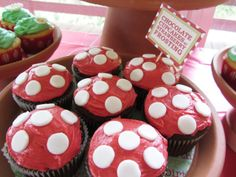 Cupcakes at a Woodland Party #woodland #party