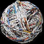 Newspaper yarn - sounds a little out there, but would make perfect yarn for making homemade baskets and storage totes