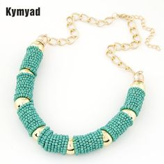 7e81fa123436 Kymyad New Fashion Choker Vintage Jewerly Bead Necklaces   Pendants Fashion  Colar Exaggerated Statement Necklace For Women. Jewelry   Accessories