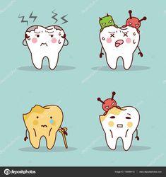 Cartoon teeth have toothache Cartoon Cartoon, Dentist Cartoon, Kids Dentist, Cute Monsters Drawings, Teeth Drawing, Monster Drawing, Dental Humor, Dentistry, Caricature