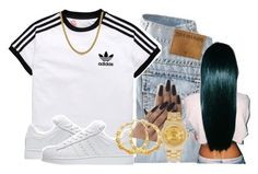 """❗"" by kashharmonii ❤ liked on Polyvore featuring adidas Originals, adidas, Roial and Rolex"