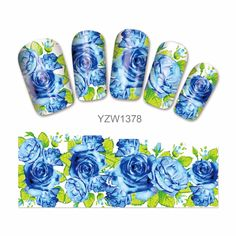 LCJ Flower Design Watermark Beauty Nail Art Tips Sticker Full Wraps Water Transfer Stickers Decals For Nails 1378 #Affiliate