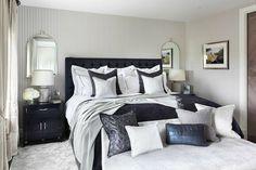 Chambre à coucher parentale de cette belle maison anglaise