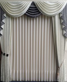 A beautiful display of our La Scala in the showroom at Bay Bay Curtains in Melbourne