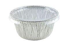 4 oz. Aluminum Foil Cup w/Clear Plastic Lid 10PK Utility/Cupcake/Ramekin/Muffin