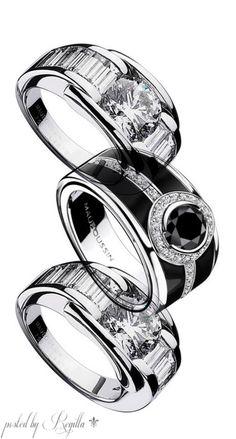 """Nouvelle création MAUBOUSSIN """" L'Oeuvre Noire"""", diamant noir, or blanc, laque noire et diamants"""