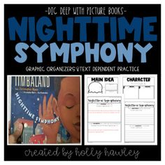 Nighttime Symphony Text Dependent Book Study Activities by Holly Hawley Fourth Grade, Second Grade, Text Dependent Questions, Magic Treehouse, Book Study, Graphic Organizers, Cover Pages, Read Aloud, Book Activities