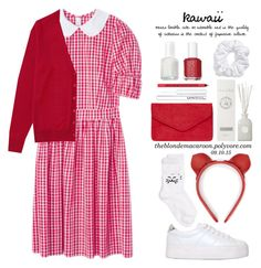 """""""09.10.15"""" by theblondemacaroon ❤ liked on Polyvore featuring Uniqlo, Girly, No Name, Fleet Ilya, Baronessa Cali, Essie, Natasha Couture, Dorothy Perkins, modern and red"""