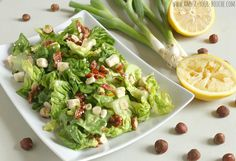 Baby gem salad with hazelnuts, sun-dried tomatoes and feta (The Gate Easy Vegetarian Cookbook review) - Amuse Your Bouche