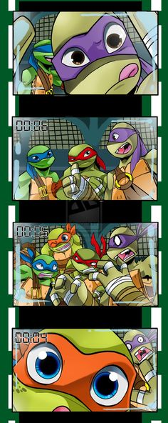 Say PIZZA! TMNT--page 1 of 2, see the rest on this cool guy's DeviantArt page. ;)