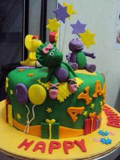 Barney Birthday Cake Ideas Cakes for parties Pinterest