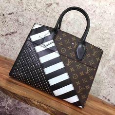 d5a9d436e1a3 Louis Vuitton Studded Calfskin and Monogram Canvas City Steamer MM Bag  M42347 2017