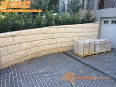 Natural stone walling - Wall cladding - Aussietecture - Choices made easy! Sandstone Cladding, Natural Stone Cladding, Sandstone Paving, Natural Stone Wall, Natural Stones, Sandstone Fireplace, Stone Veneer, Stone Masonry, Stone Retaining Wall