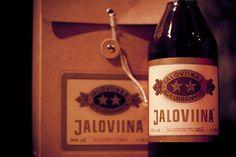Jaloviina - Ädelbrännvin - Kahden tähden Jallu - rajoitettu erä ... #viina #alkoholi #mainos