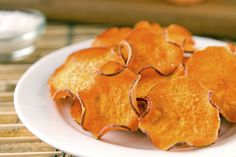 Microwave Sweet Potato Chips: Pop slices of sweet potato into the microwave when you need a quick snack but don't have the time to cook them in the oven.