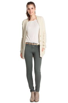 stretch cotton leggings CASUAL - Esprit Online-Shopista