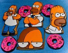 Homer Simpson cookies
