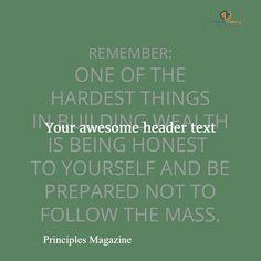 Principles Magazine