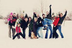fun winter family photo