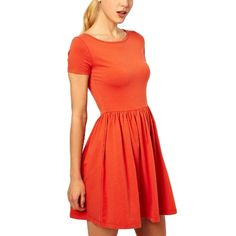 (14.39$)  Watch now - http://ai3jo.worlditems.win/all/product.php?id=G0564C-M - New Casual Women Jersey Dress Solid Design Short Sleeves Slim Fit Sweet One-piece Orange