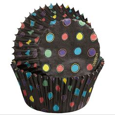 Black Foil No Fade Cupcake Liners with Neon Dots *** You can find more details by visiting the image link.Note:It is affiliate link to Amazon.
