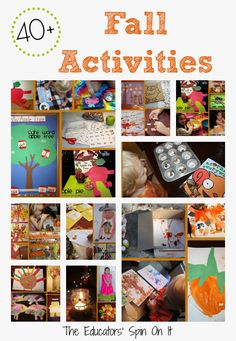 40+ Fall Activities for Kids includes crafts, recipes, activities and more!