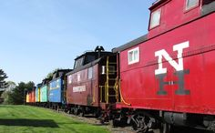 """Red Caboose Motel - Ronks, PA. """"make yourself at home in one of our 40 historic train cars and cabooses. Plus, everyone loves our on site petting zoo, Amish Buggy rides, gift shop and our authentic train restaurant"""" - older motel style rooms but clean and little kids LOVE it. With playground and the restaurant car rocks (big win for little kids!!!)"""