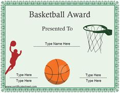 Basketball award adventure pinterest basketball drills and an ideal certificate to offer to participants of a basketball game or event a basketball certificate can be gifted to extend your players efforts and yadclub Image collections
