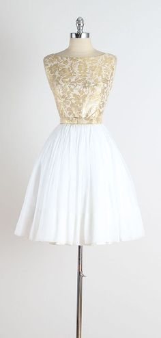 24 Karat . vintage 1950s dress . vintage by millstreetvintage
