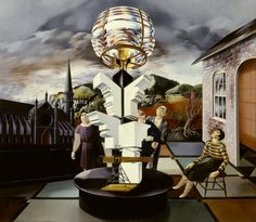 Peter Blume (1906-1992), Light of the World (1932), oil on composition board, 51.4 x 45.7 cm. Collection of Whitney Museum of American Art, New York, New York, USA.