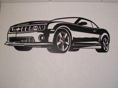 Chevy Camaro Metal Wall Art on Etsy