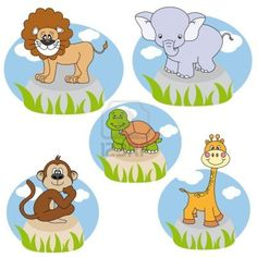 Animals. Funny cartoon and vector characters. Isolated objects
