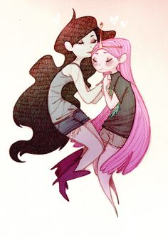 This Is A Bubbline Appreciation Post and Gallery Princesse Chewing-gum, Art Magique, Marceline And Princess Bubblegum, Prince Gumball, Finn The Human, Fanart, Vampire Queen, Jake The Dogs, Bubbline