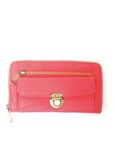 Zipper Front Quilted Wallet Clutch - Handbags - ACCESSORIES A'GACI - StyleSays