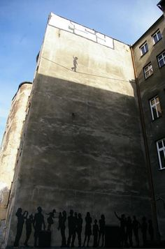 Walk the Line street art