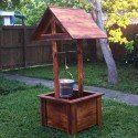 Wooden Wishing Well Plans | MyOutdoorPlans | Free Woodworking Plans and Projects, DIY Shed, Wooden Playhouse, Pergola, Bbq Diy Wooden Projects, Wooden Diy, Pallet Projects, Garden Projects, Art Projects, Diy Pergola, Pergola Shade, Pergola Plans, Pergola Garden