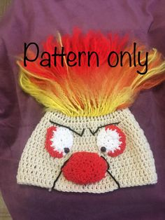 b407b68a763 Heat Miser Crochet Hat Pattern Old Christmas Movies