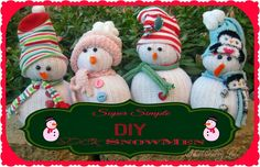 Super Simple DIY Sock SnowMen {Tutorial} - Huckleberry Love