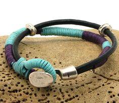 FREE SHIPPING Women's leather braceletHandmade by eliziatelye, $25.00