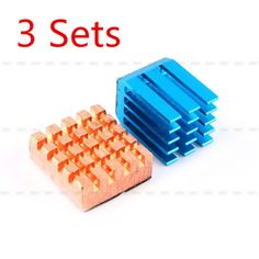 3sets copper aluminium cooling #heatsink kit for #raspberry pi b+/#raspberry pi 2,  View more on the LINK: http://www.zeppy.io/product/gb/2/121944553739/