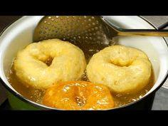 Krumplifánk! Muszáj lejegyezned ezt a receptet! Hihetetlenül finom!| Ízletes TV - YouTube Beignets, Bagel, Doughnut, Food And Drink, Bread, Cooking, Deep Frying, Cake, Donut Hole Recipe
