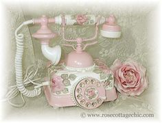 pink rose phone... <3 the pink/white mix