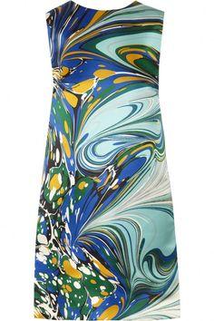 marbled silk,  fashions | ... silk-satin dress by Stella McCartney is a fashion-forward party choice
