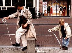 """Esther Ferrer (Spain), """"El camino se hace al andar"""", 's-Hertogenbosch, Netherlands, 2002."""