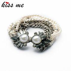 New Styles  Statement Fashion Women Jewelry Elegant Imitation Pearls Charming Bangles & Bracelets