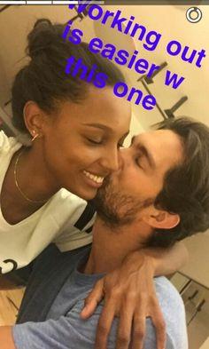 Jasmine Tookes and Tobias Sorensen on her snapchat! Add her:@jastookes