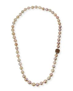 Long+Champagne+Pearl+Single-Strand+Necklace+by+Stephen+Dweck+at+Neiman+Marcus.
